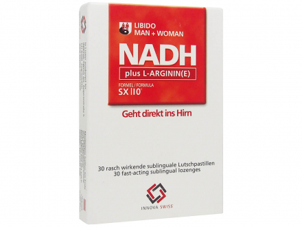 NADH SX|10 20mg plus L-Arginin - sublingual
